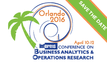 Analytics 2016 save the date - April 12-14, 2016, Orlando, FL