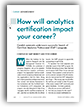 How will analytics certification impact your career?