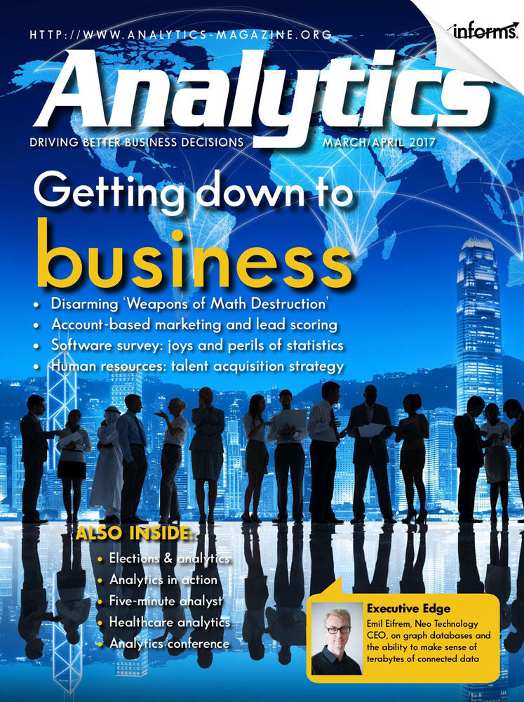 Analytics March 2017 cover