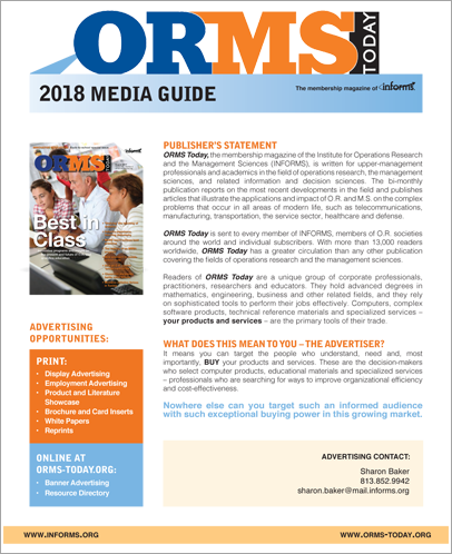 ORMS Today Media Guide