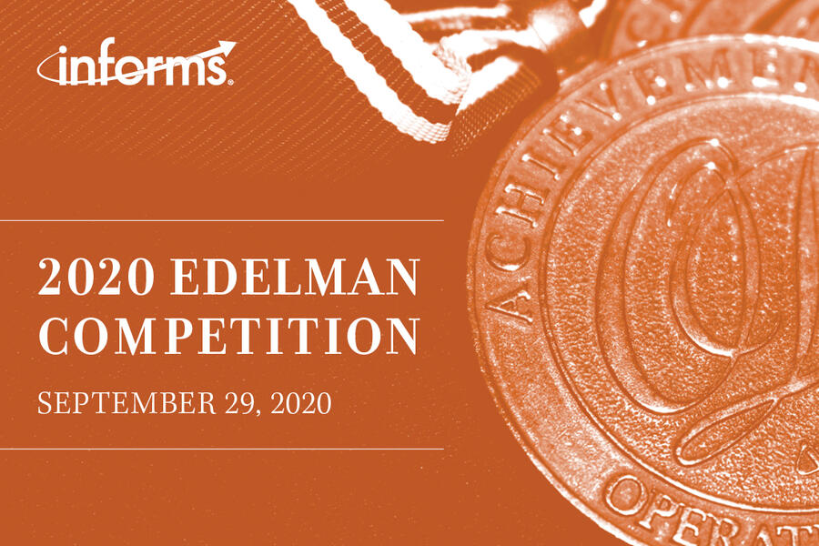 INFORMS Franz Edelman Competition Rescheduled to September 29