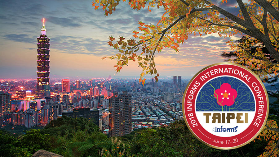 2018 International Meeting Logo in front of Taipei skyline