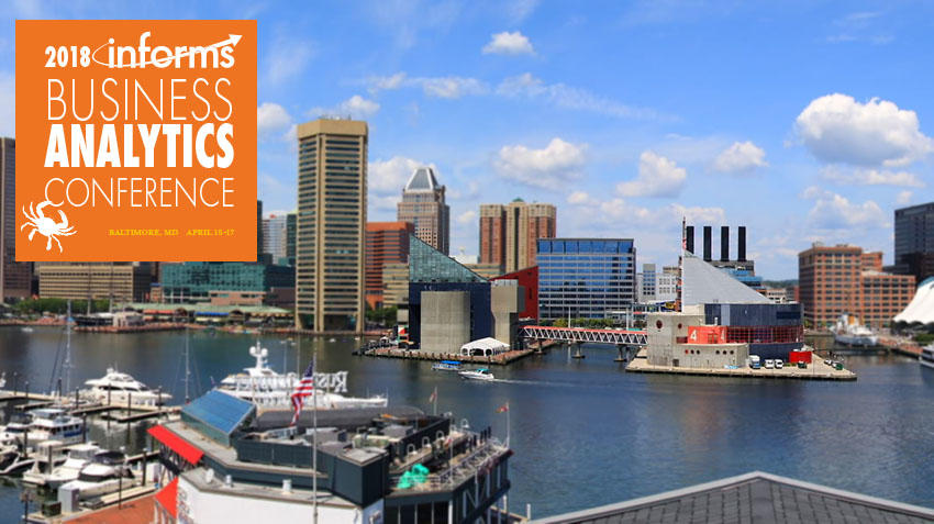 Join us in Baltimore for the 2018 Analytics Conference