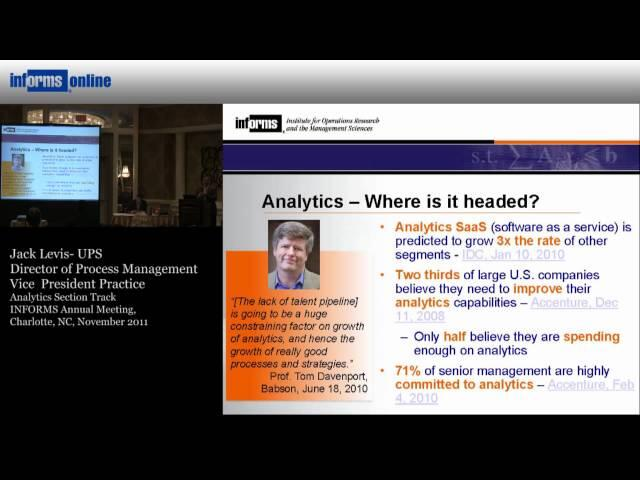 Analytics - Where is it Headed?