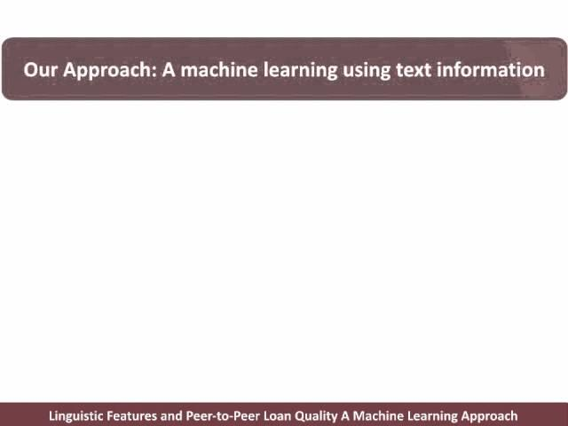 Linguistic Features and Loan Quality: A Machine Learning Approach