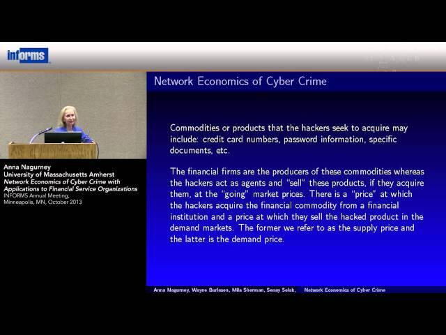 Network Economics of Cyber Crime with Applications to Financial Service Organizations