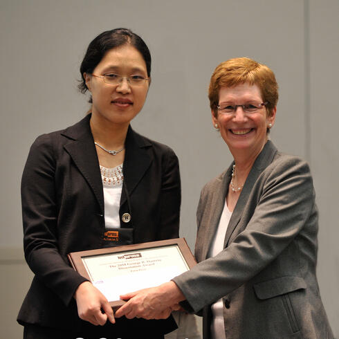 Minsun Kim, First Place, and Susan Albin, INFORMS President