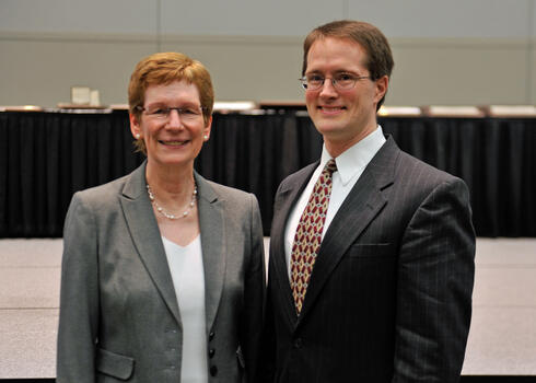 Susan L. Albin, INFORMS President, and Jonathan P. Caulkins