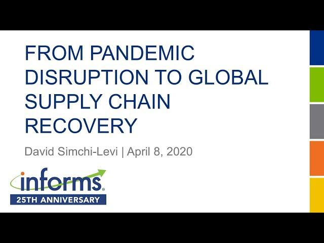 From Pandemic Disruption to Global Supply Chain Recovery
