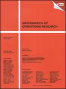 Mathematics of Operations Research