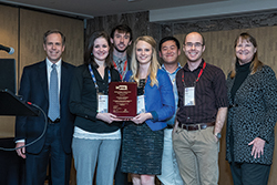 David Hunt, Christine Barnett, Greggory Schell, Kayse Maas, Victor Wu, Troy Long and L. Robin Keller (l-r).