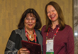 Aleda Roth and Kathy Stecke (l-r).