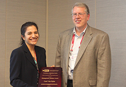 Pooja Dewan and Carl Van Dyke (l-r).
