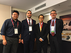 Yingdong Lu, Maxime Cohen, Ngai-Hang Zachary Leung and Gregory Heim (l-r).