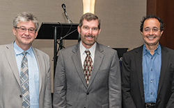 Oleg Gusikhin, C. Allen Butler and David Simchi- Levi (l-r).