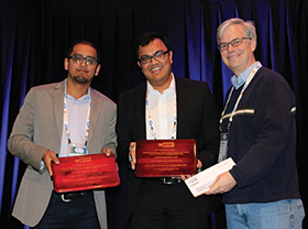 Parikshit Shah, Venkat Chandrasekaran and Andrew Schaefer (l-r).