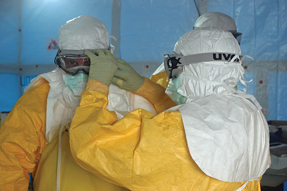 Eva Lee supported the U.S. Navy's mission on the ground in West Africa for Ebola containment.