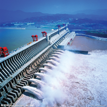 The Three Gorges Dam, which spans the Yangtze River in Yichang, Hubei Province, China, is the world's largest power station in terms of installed capacity (22,500 MW).