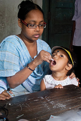 Thanks to extensive vaccination, India has been polio-free for three years.
