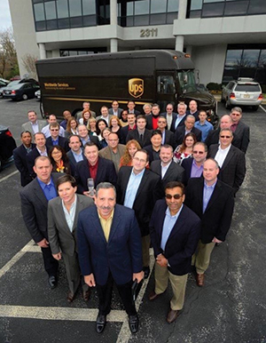 UPS' Operations Research group, led by Jack Levis (front, center) developed ORION over a 10-year period. Source: UPS