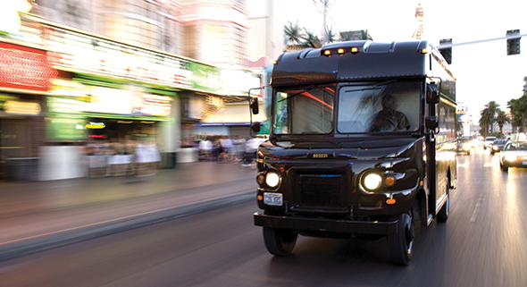 UPS optimally routes 55,000 drivers, each of whom makes on average more than a hundred deliveries a day. Source: UPS