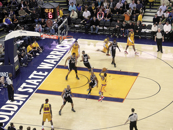 Sensor technology and strategically placed high-speed cameras capture enormous amounts of information, whether it is professional basketball (above), baseball or other sports.