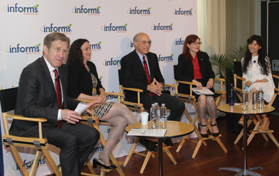Don Kleinmuntz moderated the Healthcare Panel that included Sommer Gentry, Jim Bagian, Julie Swann and Eva Lee (l-r).