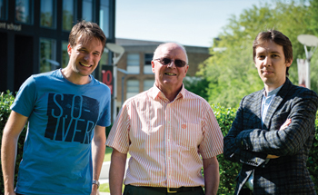 Oliver Schaer, Robert Fildes and Ivan Svetunkov (l-r) of the Centre for Marketing Analytics and Forecasting, Lancaster University, United Kingdom.