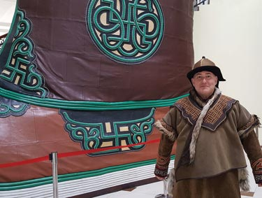 "Really big ""shew"": MiC Ed Kaplan gets in character during educational trip to Mongolia."