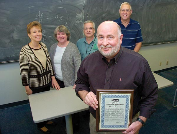 Professor Tom Lucas at NPS received the 2015 INFORMS Prize for the Teaching of OR/MS Practice.