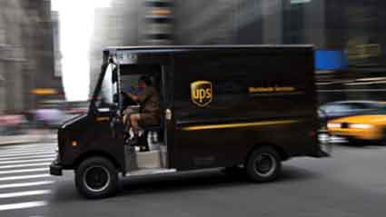 "A UPS driver typically makes between 120 and 175 ""drops"" per day."