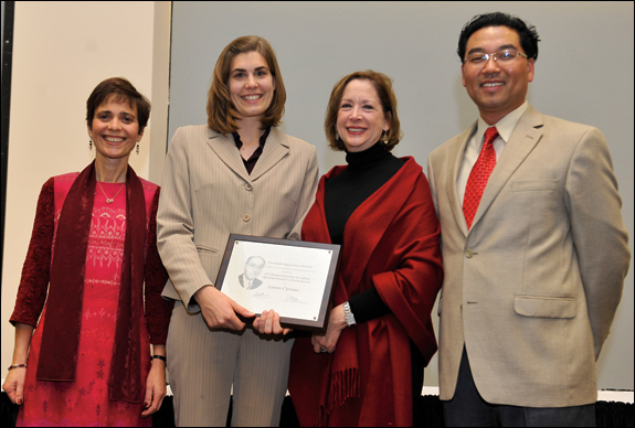 INFORMS President Rina Schneur, recipient Lauren Cipriano, Mrs. Merrill Bonder and Prize Committee Chair Gino Lim (l-r).