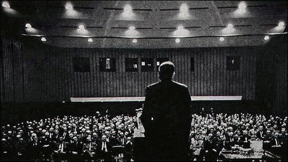 Fifty years ago, IBM CEO Thomas Watson delivered a speech at Columbia University to mark IBM's first half century in business.