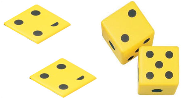 Figure 1: Average dice (left) and real dice (right).