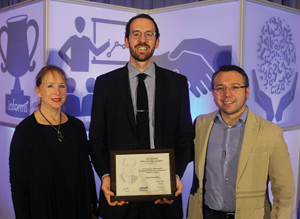 Bonder Scholarship for Applied O.R. in Health Services (l-r): Merrill Bonder, recipient Justin Boutilier and presenter Murat Kurt.