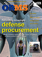ORMS June 2016 Cover